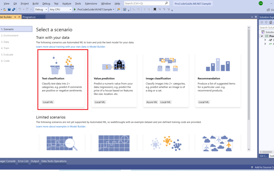ML.NET – Machine Learning with .NET Core – Beginner's Guide